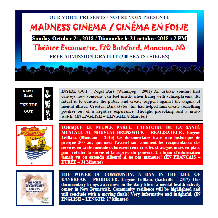 MADNESS CINEMA / CINÉMA EN FOLIE